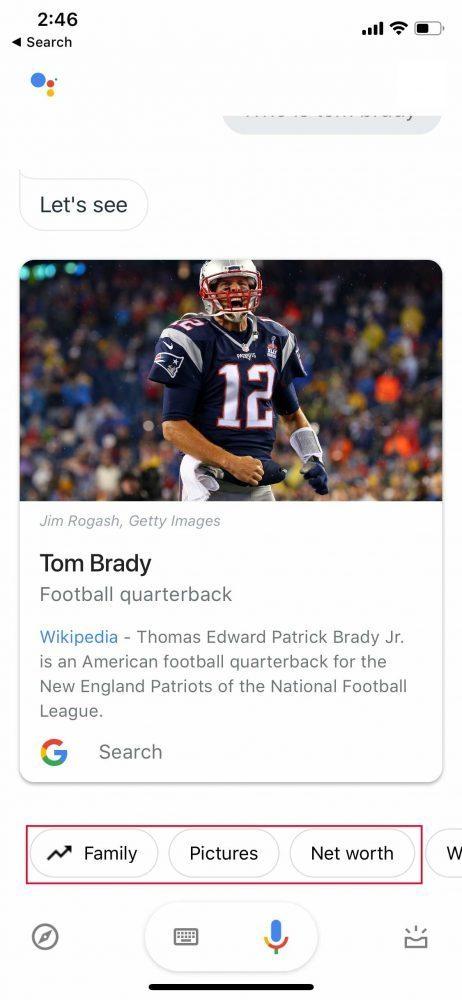 Tom Brady Knowledge Panel